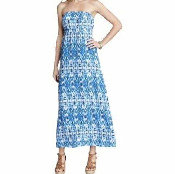 15d77047a29 Joie Dresses   Skirts - Joie Silk Strapless Ikat Print Maxi Dress